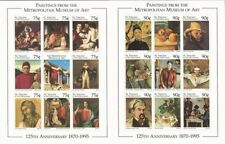 St Vincent - 1996 Metropolitan Museum-4 Stamp Sheets + 3 S/S 19j-011