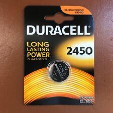 Duracell CR2450 3V Lithium Coin Cell Battery 2450 DL2450 K2450L Longest Expiry