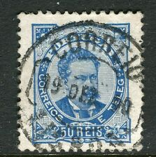 Portugal; 1882 early classic Luis issue used 50r. value fine Postmark