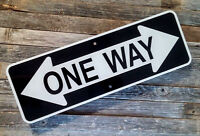 "CRAZY ONE WAY SIGN    -   6"" X 18""  - Reflective Aluminum Street Sign"