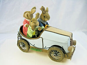 """14 in Tall Pier 1 Imports Hop Town Bunnies """"The Hares"""" Easter Spring Decor"""