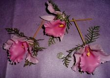 Vintage Pink Single Plastic Orchids (3)