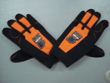 New Men's Harley Davidson #1 Racing Mechanic's Gloves Large Black/Orange #132K