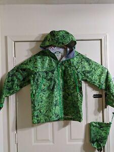 Burton Snowboards iDiom Green Graphic Mens Medium Jacket Brand New/ Stuff Sack