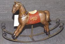 caballo de Mecedora dekopferd Figura Decorativa Decoración Hierro poliresina