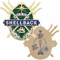 """NAVY SHELLBACK HOLD FAST ANCIENT ORDER OF THE DEEP 3D 2.75"""" CHALLENGE COIN"""
