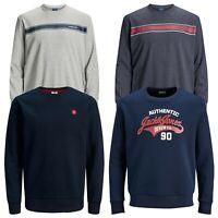 Jack & Jones Men's Plus Size Crew Neck Long Sleeve Casual Sweatshirt Jumper Top