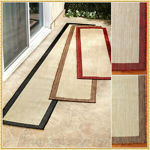 EXTRA LONG CLASSIC BORDER RUNNER RUG CARPET INDOOR OUTDOOR 6' 8' 10' ~ 3 COLORS