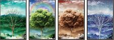 3D Poster Four Seasons Trees Forest Amazing Lifelike Unique Image Art Home Decor