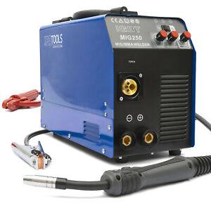 MIG 250 A Schutzgas Inverter Schweißgerät MIG MAG + E-Hand IGBT 250Amp 230V