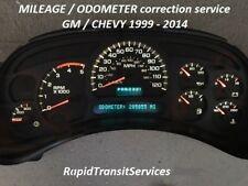 1999-2014 GM / Chevrolet Speedometer Cluster Odometer/Mileage Correction Service