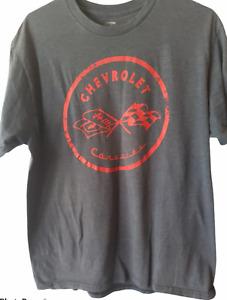 GM Men's Chevrolet Grey Logo T-Shirt Size L