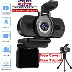 Full HD 1080P Streaming Webcam with Microphone for PC Video Calling Conference