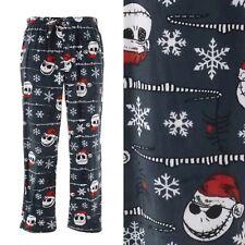 💀Nightmare Before Christmas Jack Skellington Sueded Fleece Pajama Pants - Small