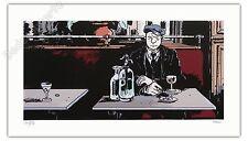 Affiche Tardi 1915 au bistrot Estampe Pigmentaire 199 ex signée 40x70 cm