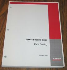 Case Ih Rbx443 Round Hay Baler Parts Catalog Manual 87346323 Issued 2005 Cih