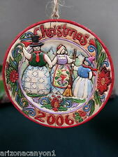 Jim Shore Snowman Family Hanging Ornament Retired 2006 4006133 Brand New in Box