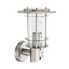 SEARCHLIGHT MAYFAIR OUTDOOR WALL LIGHT STAINLESS STEEL FINISH WITH PIR IP44 6211