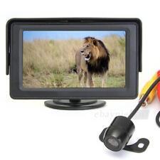 """4.3"""" LCD TFT Moniteur Rétroviseur Caméra de Recul Sans Fil pour Voiture Auto"""