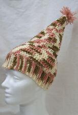 pointed SKI HAT Kids toddler girls small handmade knit home made crochet costume