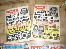Ancienne Affiche de Presse COLUCHE  - France Dimanche - Kiosque Magazine -