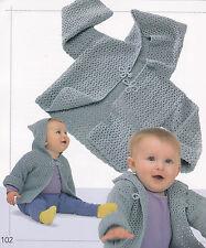 Crochet Pattern ~ BABY HOODED JACKET ~ Instructions