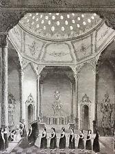 Empire Ottoman Turquie bain du Sultan sultanat ottoman gravure XIX ème