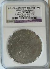 1623 Spanish Netherlands-Artois 1 Patagon NGC AU Surface Hairlines