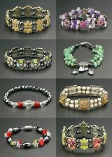 Wholesale Lot 24 Magnetic Bracelet Hematite Bead Therapy Crystals Dangle Charms