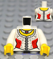 NEW Lego Female/Girl Princess MINIFIG TORSO -White Red Castle Queen Corset Dress