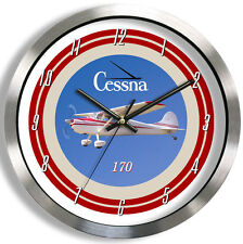 CESSNA 170 METAL WALL CLOCK