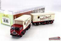 BREKINA 58429- H0 1:87 - Camion con rimorchio isotermico Fiat 690 Millepiedi baf