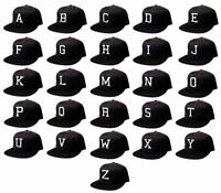 NEW VINTAGE ALPHABET FLAT BILL SNAP BACK BASEBALL CAP ALL LETTERS AVAILABLE