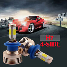 120W 12000LM H7 LED Conversion Headlight Kit 6000k 6k Xenon HID White 4 Sided