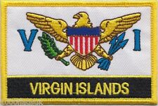 US Virgin Islands Flag Embroidered Patch Badge - Sew or Iron on