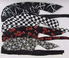 Adults Mens Womens Bandana Head Coloured Zandana Scarf Hat Paisley Tie Skulls
