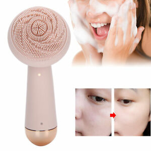 Electric Massage Brush Silicone Face Cleaner Facial Cleansing Device Waterproof