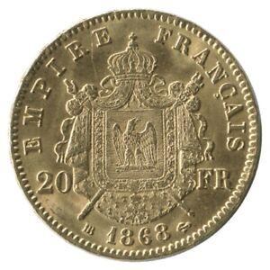 20 Francs Napoléon III Tête Laurée 1868