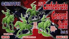 CHINTOYS cht014 ACW CONFEDERATE GENERAL STAFF #2 MOUNTED. CIVIL WAR. 1/32 c60mm
