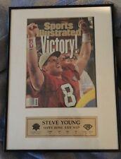 Steve Young Super Bowl XXIX MVP Signed SI Score Board COA