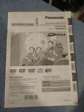 Panasonic Dmr-Es15 Dvd Recorder Owners Instruction Manual - Original