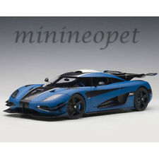 AUTOart 79018 KOENIGSEGG ONE:1 1/18 MODEL CAR MATTE IMPERIAL BLUE/CARBON BLACK