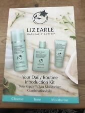 Liz Earle Your Daily Routine introduction Kit Set Cleanse,cloth,tonic,oily/combo