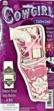 Classic Cowgirls Toy Cap Gun Holster and Belt With Western Repeater Pistol Pink