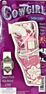 Western Girl Cap Gun Holster Set & Belt Die Cast Cowgirl Pistol Free Shipping