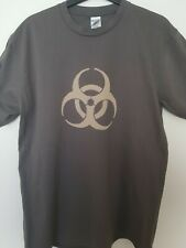 Bio Hazard hand bleached T-shirt. Large, Grey