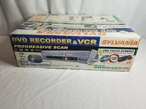 NEW Sylvania SRDV495 VHS VCR DVD Recorder Player Combo Two Way Dubbing DVD-R