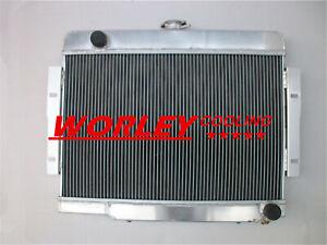 FOR 72-86 Jeep CJ CJ5 CJ7 V8 Chevy Engine Aluminum alloy Radiator/Conversion