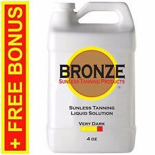 BRONZE - VERY DARK - 4 oz - Spray Tanning Liquid Solution / Sunless Self Tan