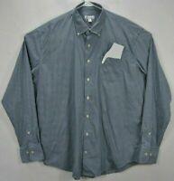 Peter Millar Mens XL Shirt Plaid Long Sleeve Button Up Nylon Blend Button Down